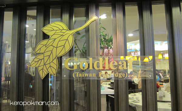 Goldleaf new Taiwan Porridge at Thomson Plaza