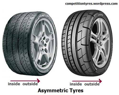 asymmetric tyres