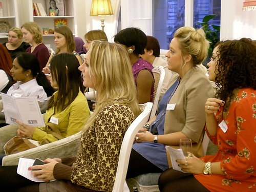 Attendees watching the talk