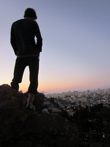 pretty view, hipster silhouette
