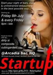 Startup flyer 1 at Arcadia Bar