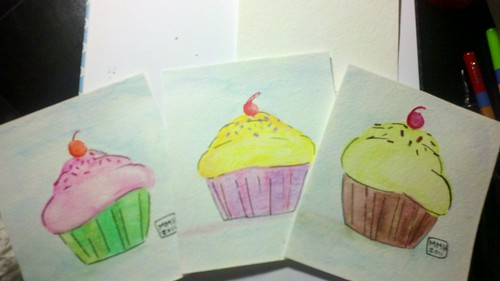 My Cupcake paintings