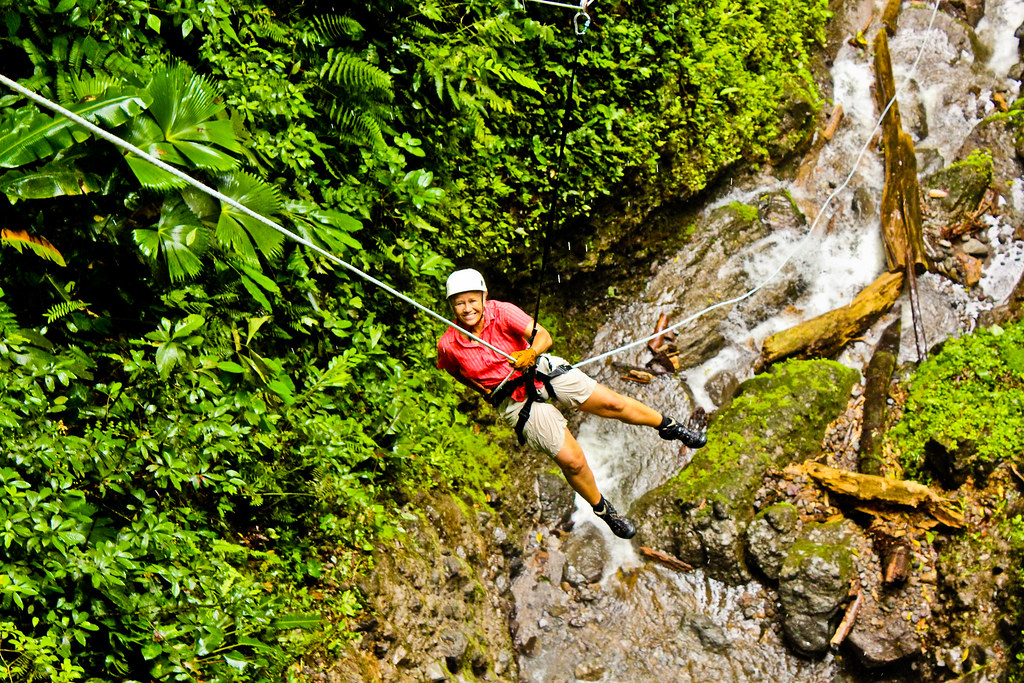 Chris on her long descent