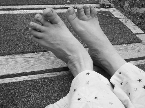 Self Portrait: Feet by Karyn Ellis
