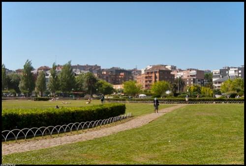 Parque junto a la playa