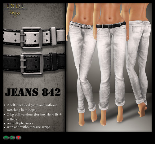Jeans 842 white (TOSL