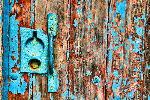 Old Door at Fyvie Castle Gardens by Gordon M Robertson, on Flickr