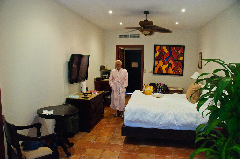 Chris, ready to go to the spa, Tabacon