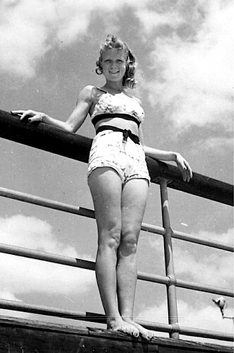 1950s bikini on deck