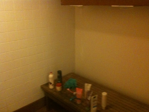 bench seating in the shower