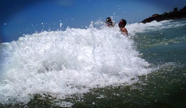 En la playa de Cullera