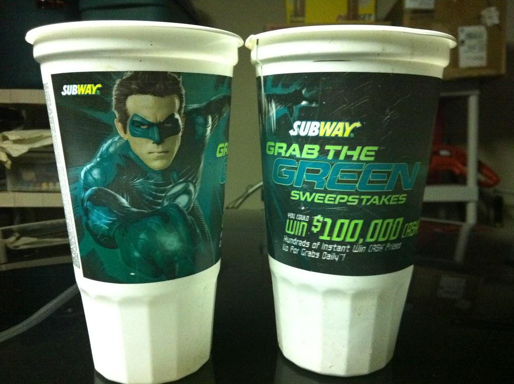 Green Lantern cups