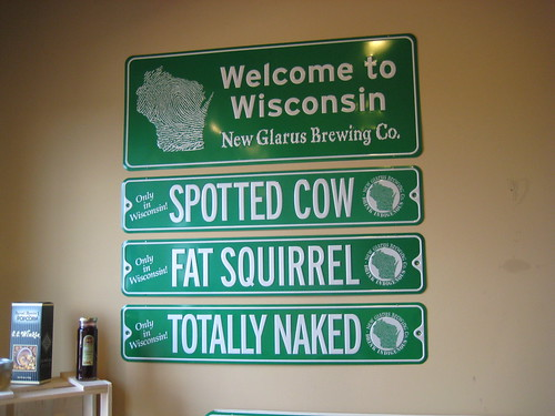 New Glarus Brewery signs