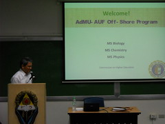 Dr. Fabian Dayrit of Ateneo in AUF