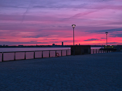 Sunset on the Mersey