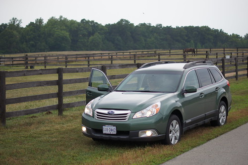 Our Subaru Outback - at the Pohick Horse Stables