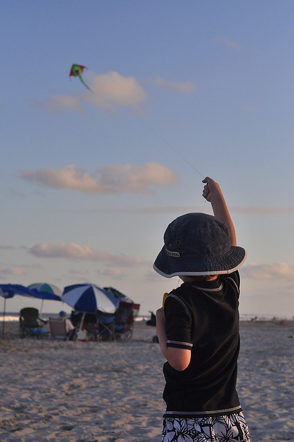 Alex Flying a Kite