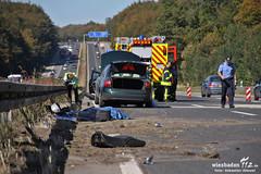 Tödlicher Motorradunfall A3 Medenbach 01.10.11