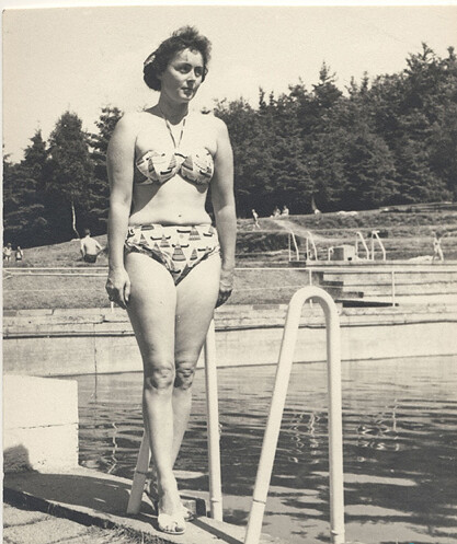 1960s Bikini Woman by Pool