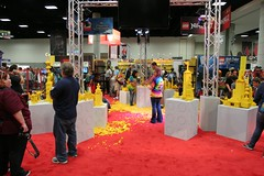 Play area at the LEGO booth - San Diego Comic Con