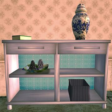 BoatHouse Coastal Sideboard in blue 50L$
