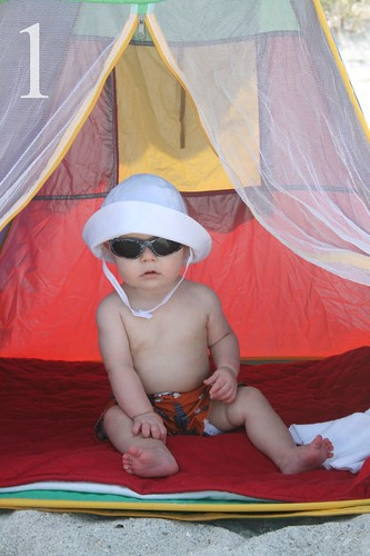 Baby E's first trip to the beach in 2011