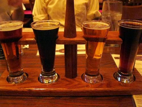 My Flight of Beer Samples