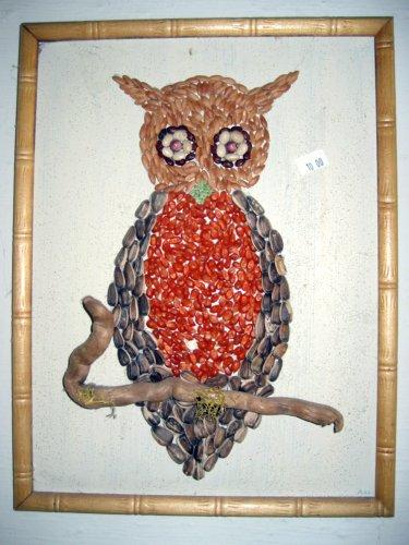 Dried bean owl art