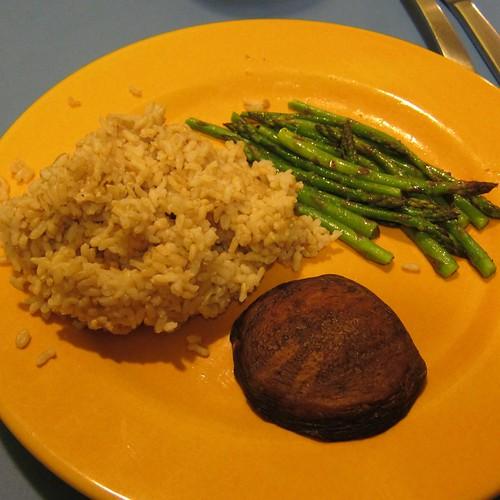 Brown Rice, Asparagus & Portobella Mushroom