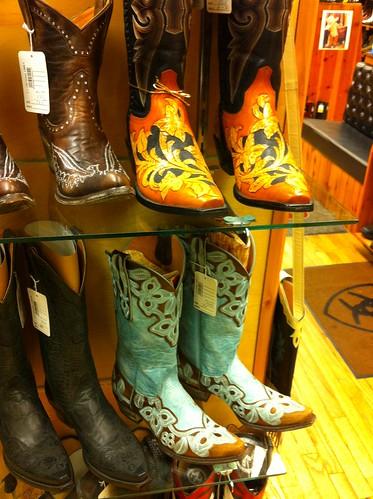 cowboy boots aqua