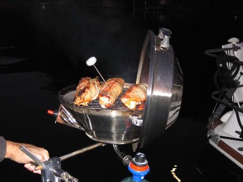 Cuban pork tenderloins on the grill