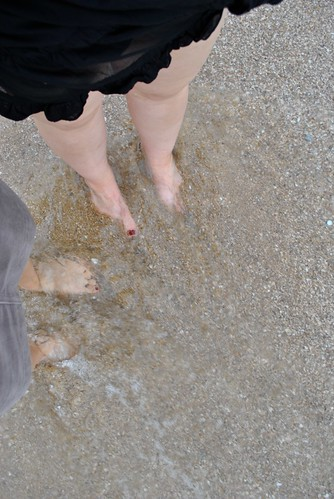 Dipping our feet in the water