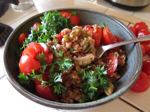 Eggplant Bulgur Pilaf (Patlıcanlı Bulgur Pilavı)