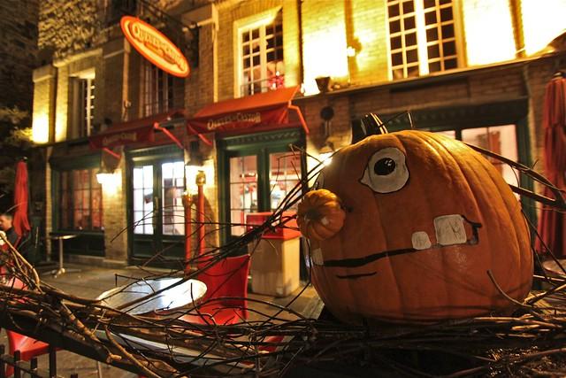Préparation pour l'Halloween, Québec, Canada