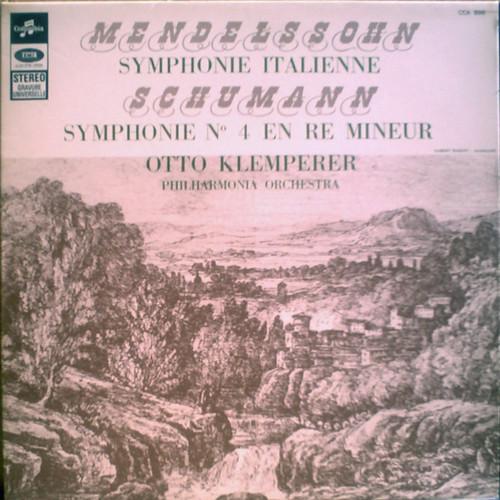 FR PATHÉ MARCONI CCA896 KLEMPERER, PHILHARMONIA MENDELSSOHN: SYMPHONIE ITALIENNE, SCHUMANN: SYMPHONIE No.4