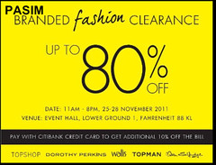 Fahrentheit 88 Branded Fashion Clearance 25 - 28 Nov 2011