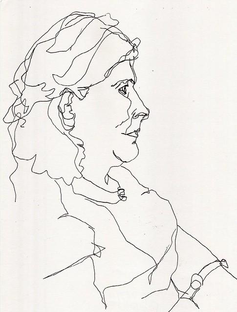 Sylvia draws her horses / S. tekent haar paarden