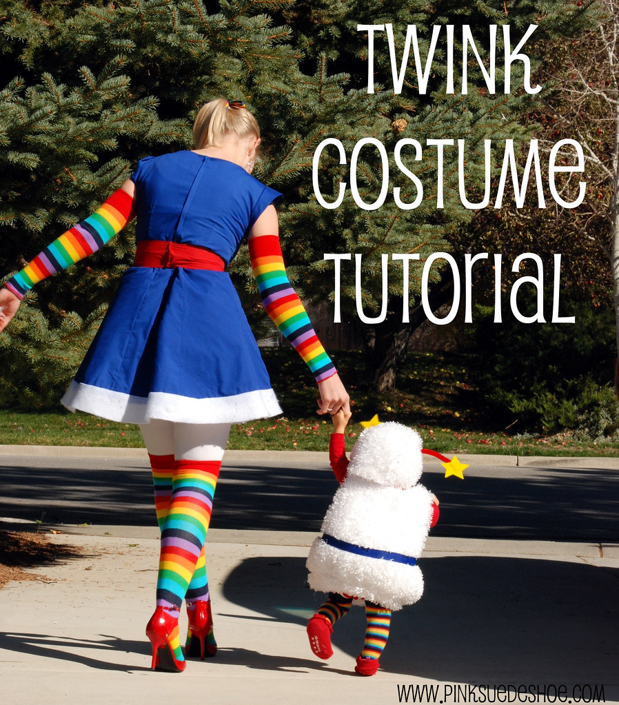 rainbow brite and twink costume diy tutorial