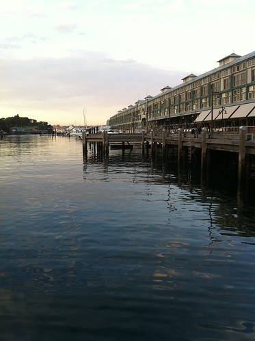 Woolloomooloo bay at sunset