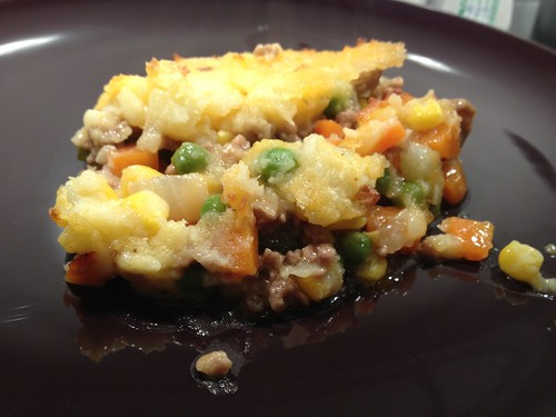 shepherd's pie, ready to eat