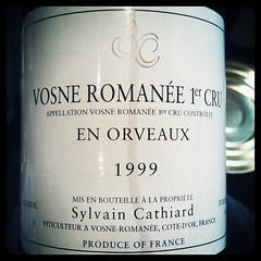 Vosne Romanee 1er Cru En Orveaux 1999 Sylvain Cathiard