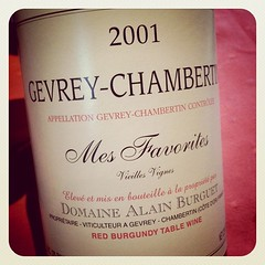 Gevrey-Chambertin Mes Favorites VV 2001, Domaine Alain Burguet