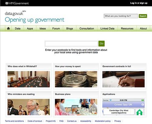 Screenshot of data.gov.uk