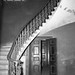 Stairway with cedar doors, Aberglasslyn House, Aberglasslyn, NSW, Australia - March 24, 1961