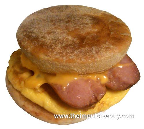 Dunkin' Donuts Smokehouse Sausage Breakfast Sandwich