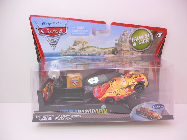 disney cars 2 miguel camino pit race off launcher