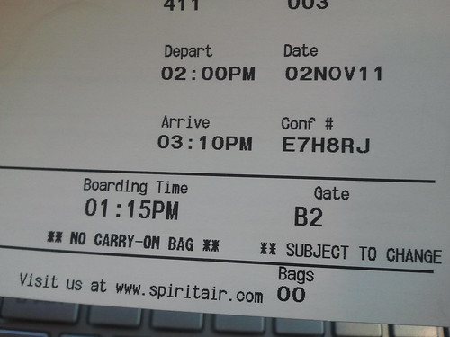 Spirit No Carry On Boarding Pass