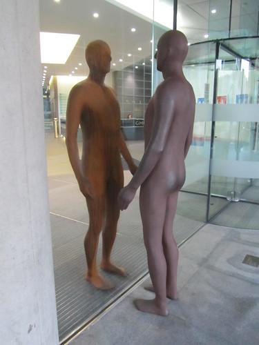 Facing oneself, Regent's Place, Euston Road