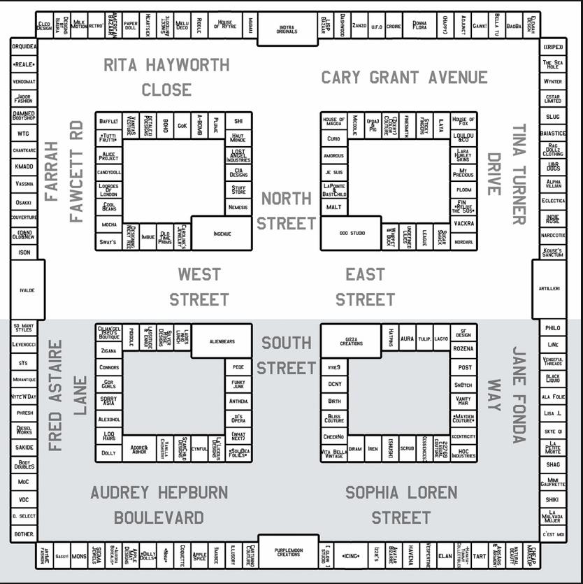 Vintage Fair 2011 Map