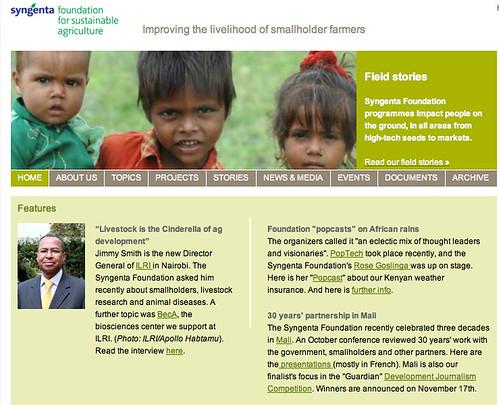 Jimmy Smith interview on Syngenta Foundation website